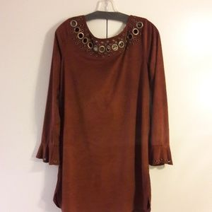 Dresses & Skirts - Suede bohemian dress
